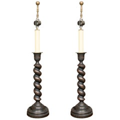 English Barley Twist Table Lamps