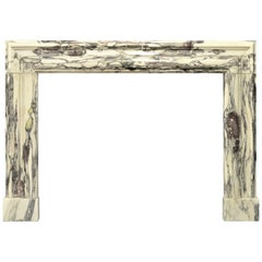 17th Century Dutch Louis XIV Fireplace Mantel in Breche Violet Marble