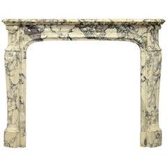 Paonazetto Pompadour Fireplace Mantel