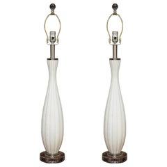 Pair of Venetian Glass Table Lamps