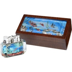 Alfred Dunhill Aquarium cigar or cigarette box, 1950s