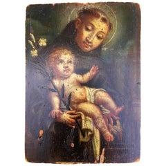 Original Oil on Panel of St. Anthony of Padua