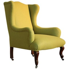 19th Century English Wingback Armchair