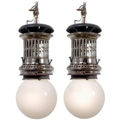 Rare Ornate Welsbach Gas Lamps, Newly Wired