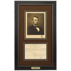 Abraham Lincoln Signed Presidential Appointment and Jacques Reich Etching, 1861