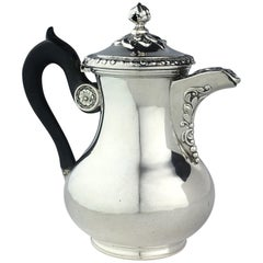 French Sterling Silver Coffee or Tea Pot circa 1850 by Martial Fray