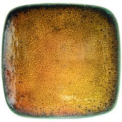 Hans Hedberg, a Large Unique Faïence Plate, Biot, France, 1960s