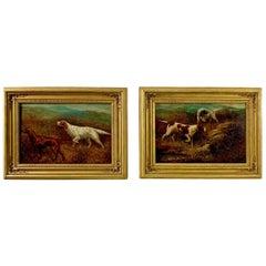 """Setters on the Yorkshire Moors"" Pair of Oil Paintings by Herbert St. John Jones"