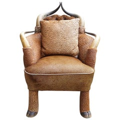 Period Horn and Hoof Hide Upholstered Chair