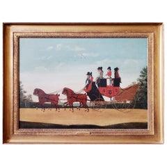 """The Rochester To Margate And London Coach"", John Cordrey circa 1800"