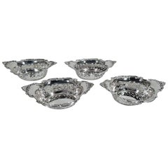 Set of 4 Gorham Classical Sterling Silver Nut Dishes