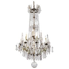19th Century French Baccarat Crystal Chandelier