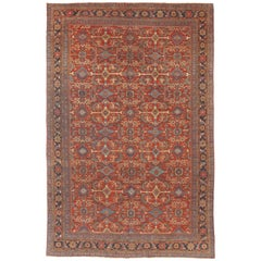Antique Mahal Sultanabad Carpet Rug, circa 1900