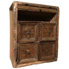 17th Century Italian Walnut Travel Cabinet