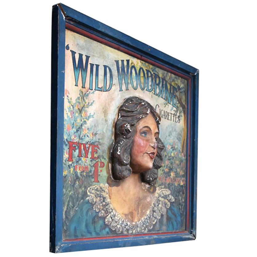 Wild Woodbine Advertising Sign