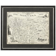 1937 Pictorial Map of Montana by Irvin Shope