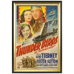 Thunderbirds World War II Vintage Aviation Movie Poster, circa 1942