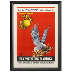 Fly with the Marines World War II Recruitment Poster