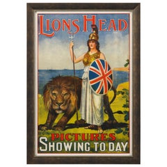 Lions Head Pictures Vintage Poster, circa 1911