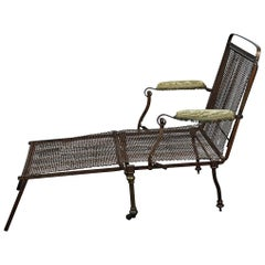 English Campaign Chair or Bed