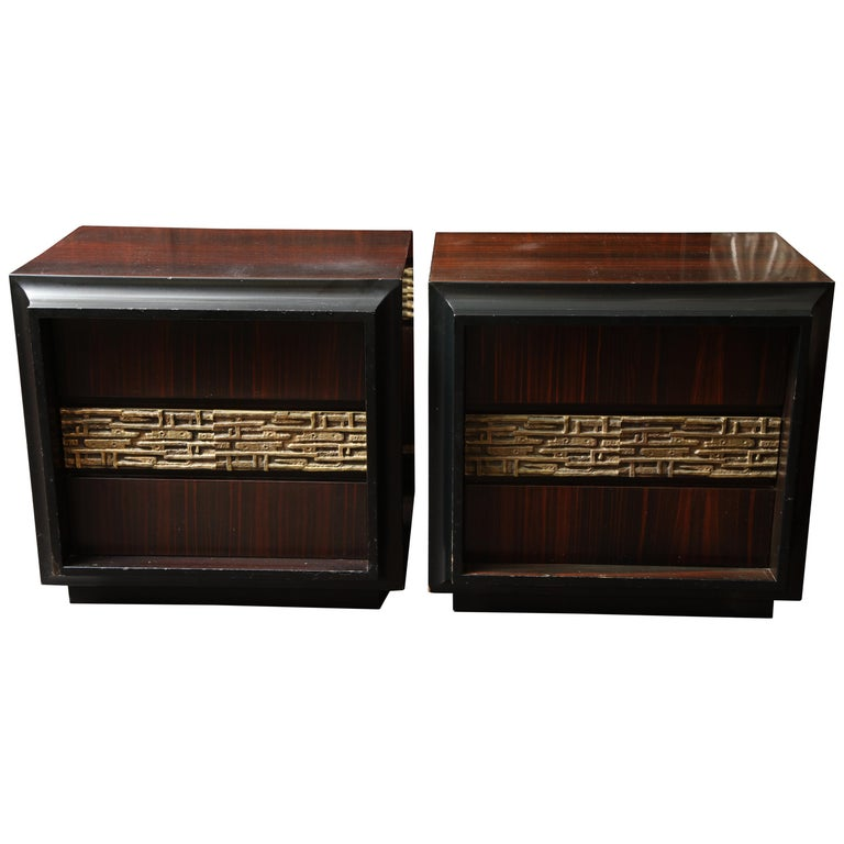 Pair of Luciano Frigerio Vintage Italian Nightstands For Sale