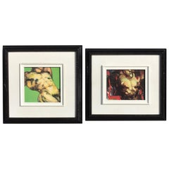 Two Diminutive Giclee Male Nude Studies by Johanne Corno