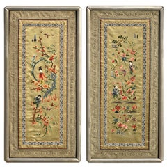 Pair of Chinese Republic Silk Tapestries