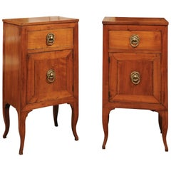 Pair of Early 19th Century Italian Fruitwood Commodini