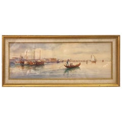 Venetian Oil Painting, Signed M. Martino, Italy, 20th Century