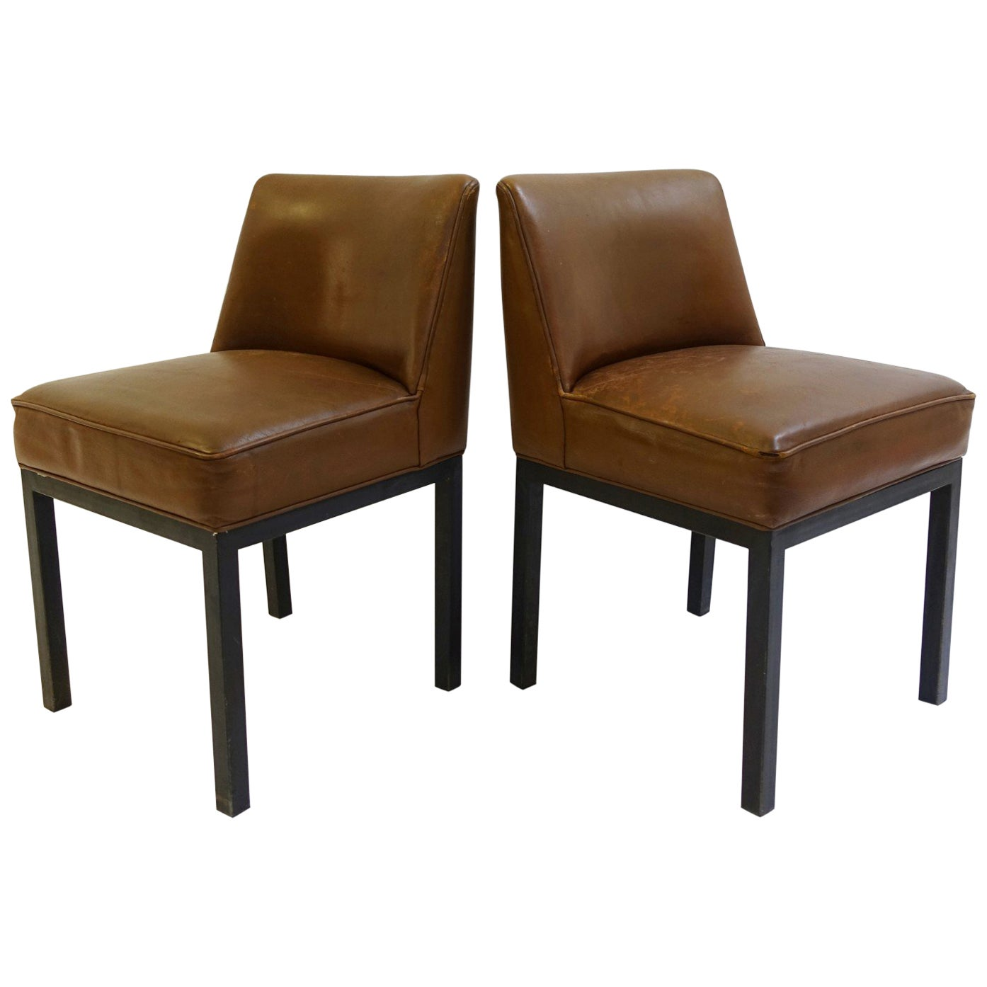"""Louise"" Chairs by Jules Wabbes for Mobilier Universel, 1960s, Set of 2"