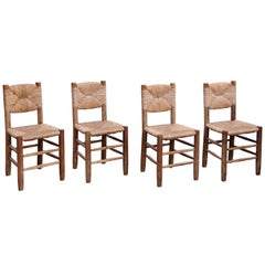 Set of 4 Charlotte Perriand Chairs, circa 1950