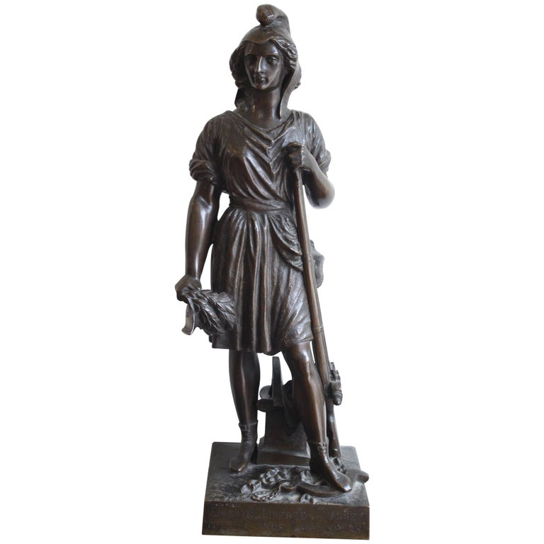 Freedom by The People, David d' Angers, 19th Century For Sale