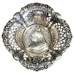 Queen Victoria's Diamond Jubilee Sterling Commemorative Bowl
