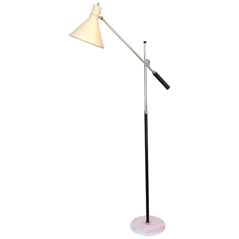 Architectural One Arm Lamp  For Sale