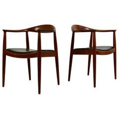 "Pair of Hans Wegner ""The Chair"" by Johannes Hansen"