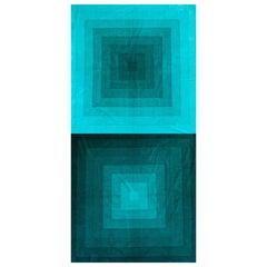 Two Vintage Textiles by Verner Panton, Spectrum Textile for Mira - X