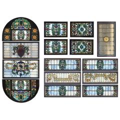 """Building a Mansion"" Stained Glass Ceiling Landmark Building S.F."