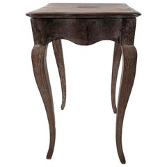 Small Louis XV Style Walnut and Limed Oak Side Table