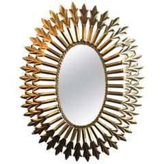 Gilt Metal Italian Mirror