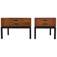 Harvey Probber Walnut End Tables or Nightstands