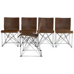 Chairs by Jean Louis Berthet for Unik, Set of 4, circa 1983