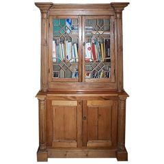 English 19th Century Pine Library Bookcase