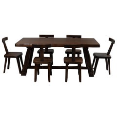 Midcentury Dining Set and 6 Chairs by Olavi Hänninen for Mikko Nupponen