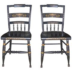 Pair of French 19th Century Side Chairs