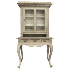 Antique Rococo Style Display Cabinet, Late 19th Century