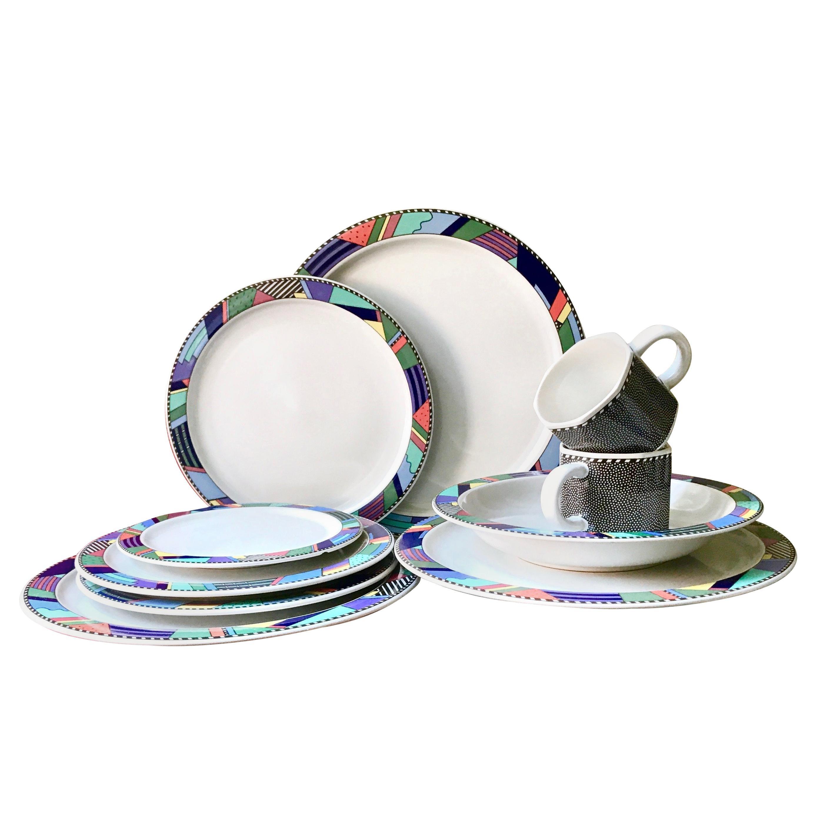 Rosenthal Studio Line Scenario Barbara Brenner Dinnerware Porcelain Memphis Era
