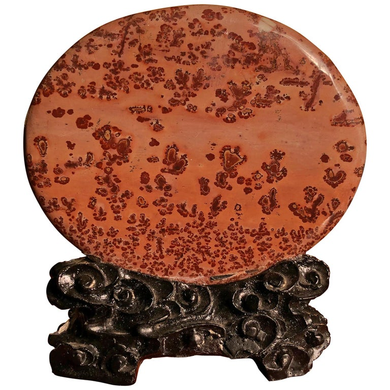 Big Natural Sea Red Viewing Stone, Extraordinary Art, Fine Gift For Sale