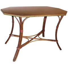 French 19th Century Bamboo Octagonal Table