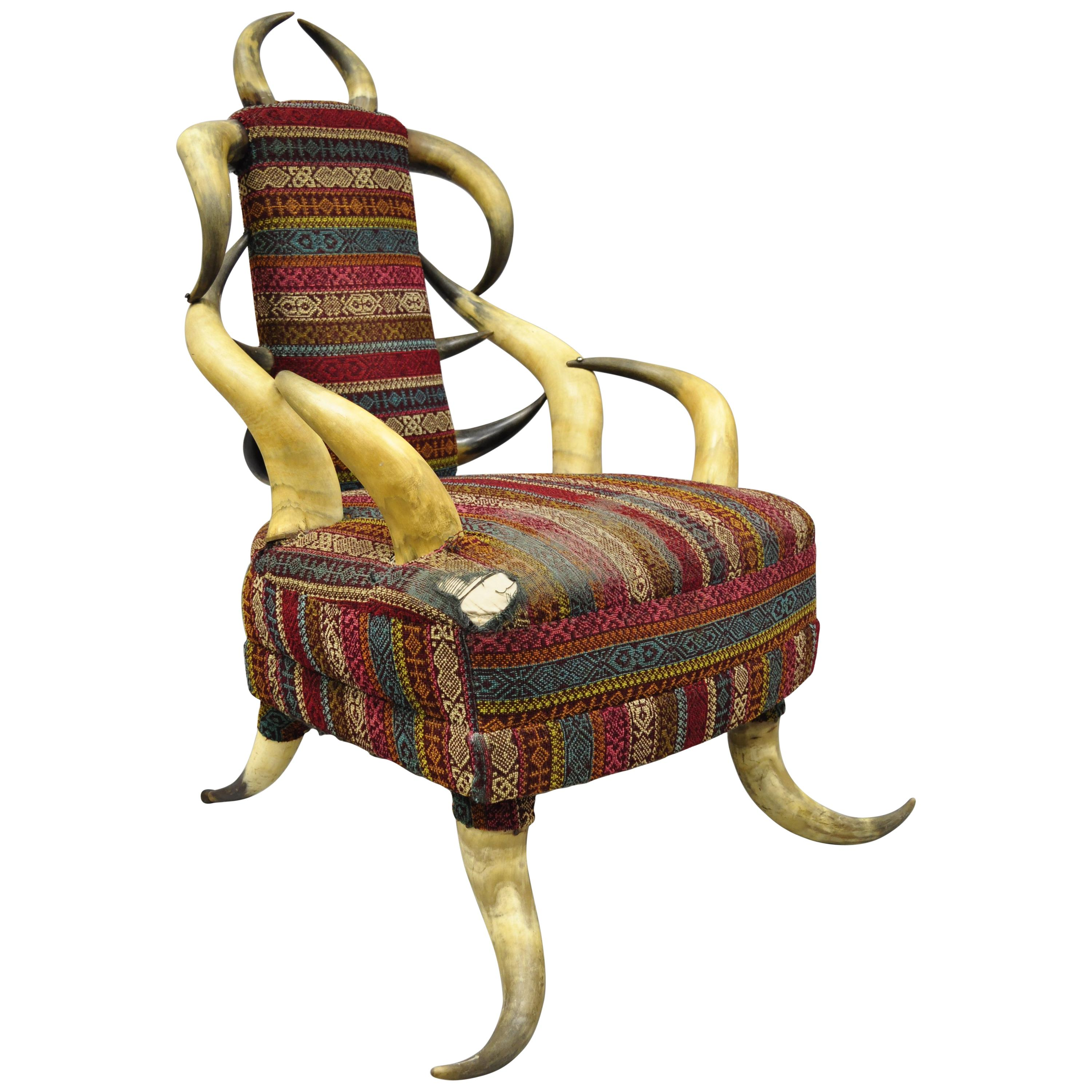 Early 20th Century Steer Horn Parlor Chair