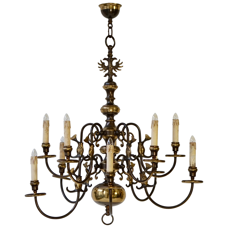 Magnificent Belgian Dutch Baroque-Style Chandelier